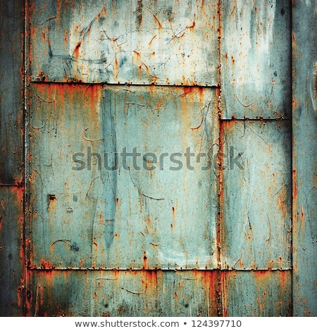 Stock photo: Seam of rusty metal surface