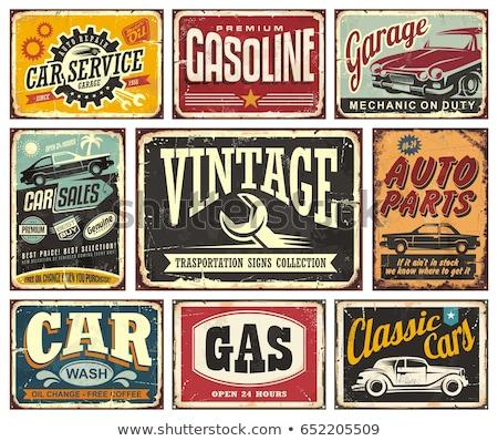 Velho simples vintage típico azul Foto stock © Vertyr