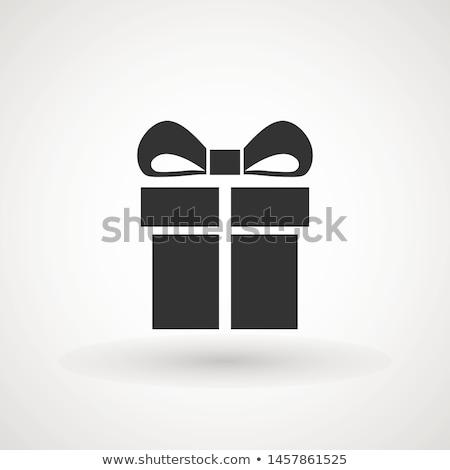 Photo stock: Coffret · cadeau · vecteur · icône · style · design · rose