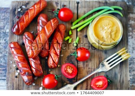 колбаса горчица Swirl белый мяса Сток-фото © Digifoodstock