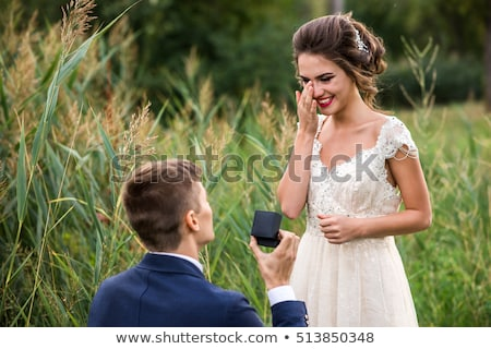 Man Makes Proposal with Wedding or Engagement Ring Stock photo © robuart