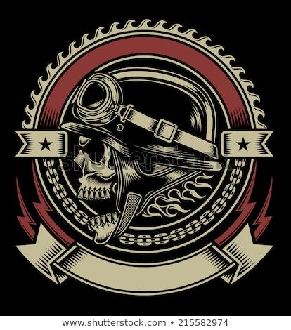 tattoo · paardrijden · motor · man · straat - stockfoto © andrei_