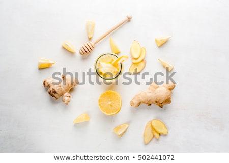 Friss gyömbér citrom citrus fehér Stock fotó © Digifoodstock
