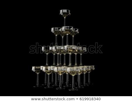 champagne · bril · banket · wijn · tabel - stockfoto © grafvision