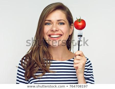mulher · tomates · criador · retrato · beautiful · girl - foto stock © Fisher