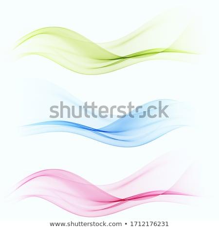 Foto d'archivio: Set · colore · trasparente · fumoso · onda · vettore