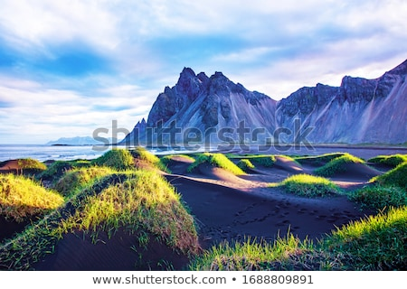 Resting place with a view of the mountains in Iceland Stock photo © Kotenko