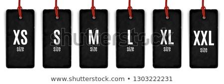 Odzież rozmiar kolekcja czerwony inny Zdjęcia stock © timurock