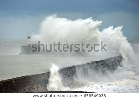 newhaven lighthouse and waves stock photo © suerob