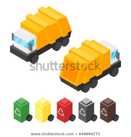 вектора изометрический мусора грузовика назад Сток-фото © curiosity