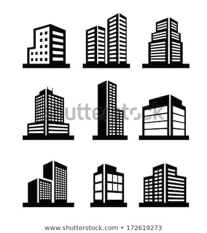 Isometrische ingesteld icon stad objecten communie Stockfoto © curiosity