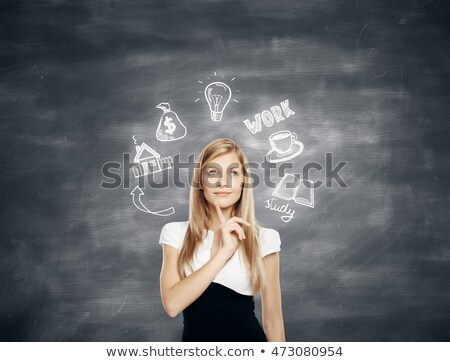 Dream Job Concept. Doodle Icons on Chalkboard. Stock photo © tashatuvango