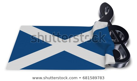 clef symbol and scottish flag   3d rendering stock photo © drizzd