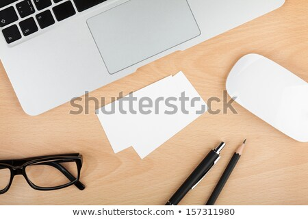 Businesscard template with laptop in background Stock photo © bluering