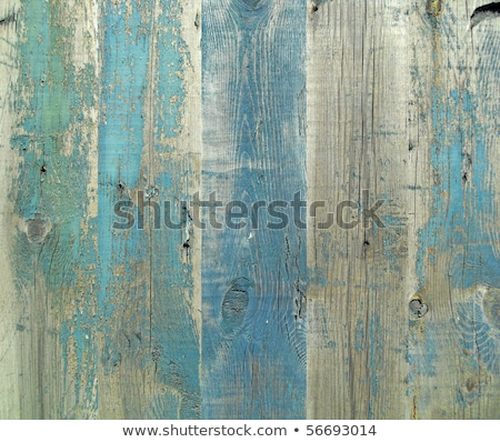 Stock photo: Wooden Board Weathered Wood Grain Paint Background