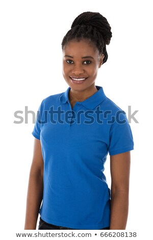 Afrikai női gondnok keresztbe tett kar portré mosolyog Stock fotó © AndreyPopov
