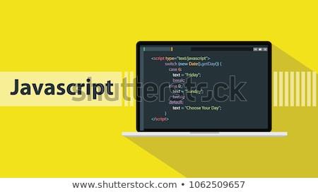 Dizüstü bilgisayar ekran portföy modern işyeri Stok fotoğraf © tashatuvango