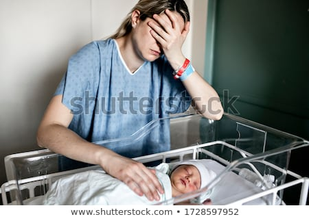 üzücü · bebek · değil · mutlu · renkli - stok fotoğraf © JamiRae