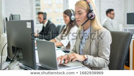 Werknemer werk pak helm illustratie vector Stockfoto © derocz