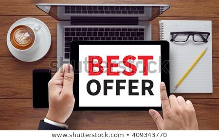special offer on office folder toned image 3d stock photo © tashatuvango