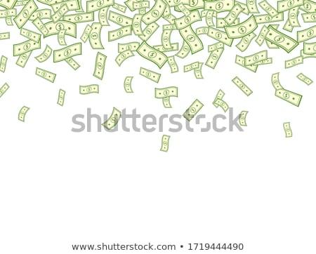 Keret repülés dollár bankjegyek vektor rajz Stock fotó © pikepicture
