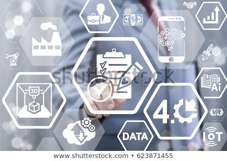 Dados integração clipboard 3D mesa de escritório Foto stock © tashatuvango
