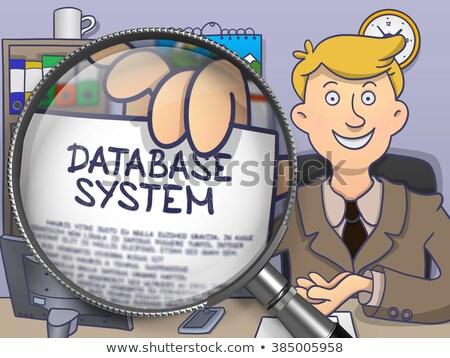 Base de données lentille doodle homme d'affaires papier Photo stock © tashatuvango