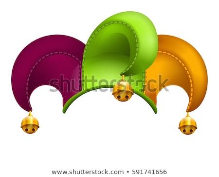 clown cap with golden bells stock photo © orensila