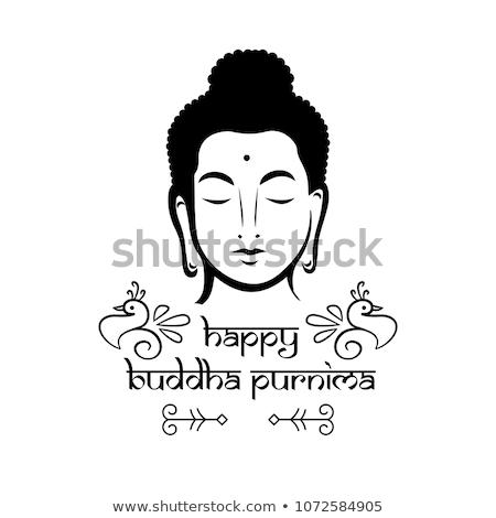 Icono Buda lineal estilo fondo yoga Foto stock © Olena