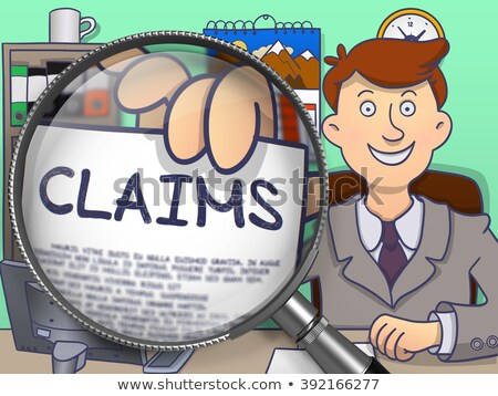 Claims through Magnifying Glass. Doodle Style. Stock photo © tashatuvango