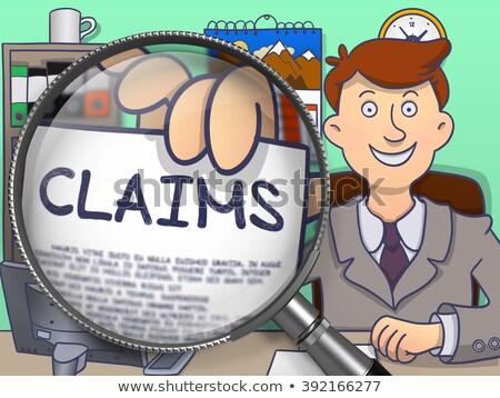 claims through magnifying glass doodle style stock photo © tashatuvango