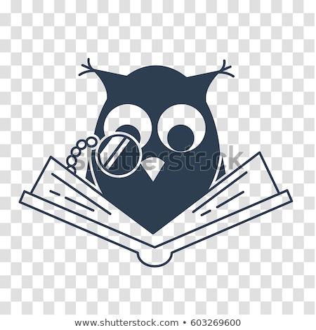 silhouette icon back to school owl stock photo © olena