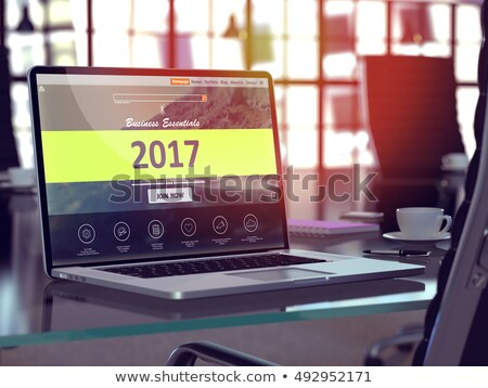 Stockfoto: Laptop Screen With Budget 2017 Concept 3d