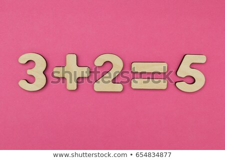 number three addition tables on a blackboard Stock photo © dcwcreations