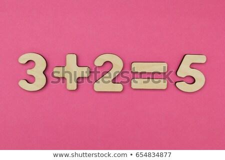 числа · три · доске · белый - Сток-фото © dcwcreations