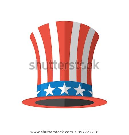 nagybácsi · illusztráció · portré · amerikai · zászló · háború · kék - stock fotó © orensila