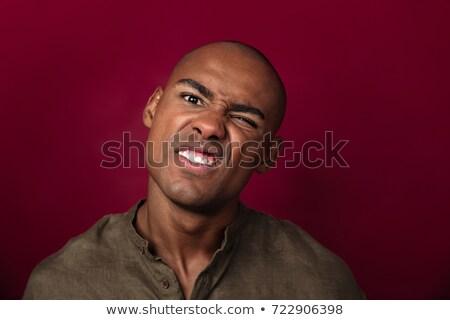 肖像 深刻 アフリカ 男 ストックフォト © deandrobot