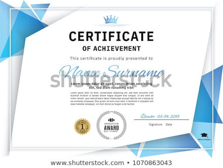 clean blue certificate of appreciation template design Stock photo © SArts