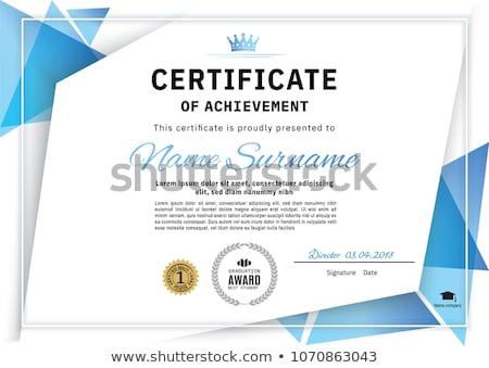 clean blue certificate of appreciation template design stock photo © sarts