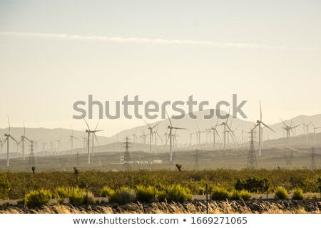 風力タービン カリフォルニア エネルギー パターン 青空 ヨーロッパ ストックフォト © IS2