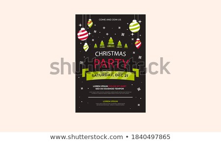 Foto stock: Vetor · alegre · natal · festa · projeto · férias
