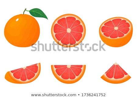 oranje · geheel · half · geïsoleerd · witte · vers - stockfoto © digitalr