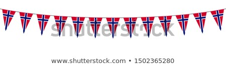 Football in flames with flag of norway Stock photo © MikhailMishchenko