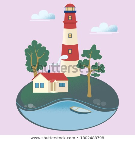 Seashore with luminous lighthouse  Stock photo © bezikus