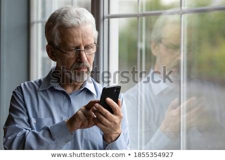 nagyapa · pózol · unokák · család · gyerekek · boldog - stock fotó © is2