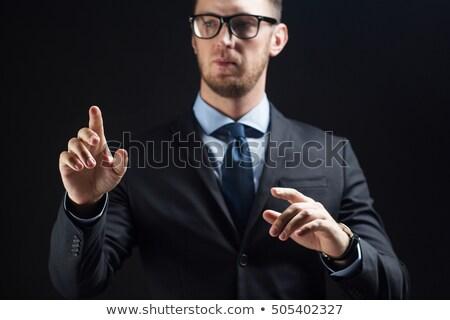 üzletember megérint valami láthatatlan üzletemberek technológia Stock fotó © dolgachov