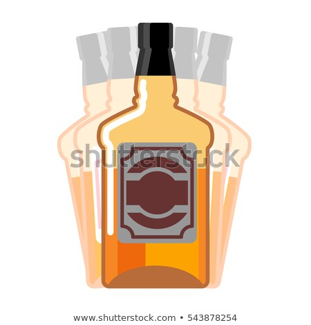 Drunkenness. Whiskey Bottle seeing double. Drink Scotch hallucin Stock photo © popaukropa