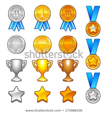 Ouro prata bronze medalha jogo Foto stock © orensila