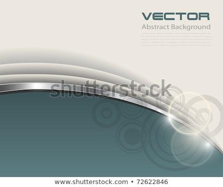Eleganten grünen grau Briefkopf Design-Vorlage drucken Stock foto © SArts