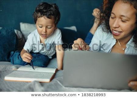 компьютер · кадр · рук · стороны · глаза · лице - Сток-фото © robuart